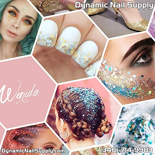 Review for Body Glitter Wenida 9 Colors 190g Holographic Cosmetic Festival Makeup Chunky Powder for Nail Hair Eye Face